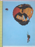 Cart.- Aviazione - Paracadutismo -Lancio Con Paracadute. - Paracadutismo