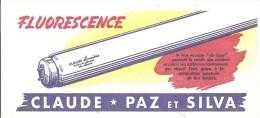 Buvard Claude Paz Et Silva FLUORESCENCE Tube Néon - Electricité & Gaz