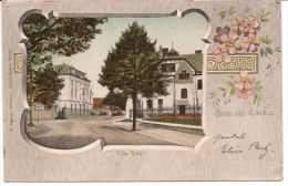 GRUSS AUS ERKELENZ  VILLA  RAKY M SCHERER VERLAG BAHNSTEMPEL AACHEN -MÖNGEN-GLADBACH 1903 - Erkelenz