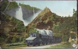 TRENO Paesaggio Montano Treno Merci - VIAGGIATA Nel 1906 (?) Formato Piccolo - Treni