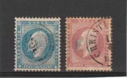 Norvége _ Oscar Ier_   1856 N° 4/5 - Norvège