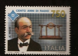 Italie Italia 1994 N° 2046 ** Invention De La Radio, Augusto Righi, Oscillateur à Sphère, Physique, Electromagnétisme - 1991-00:  Nuovi