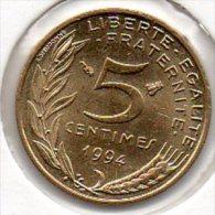 France - 5 Centimes 1994 - Abeille - SUP+ - (Marianne - Lagriffoul) - C. 5 Centimes