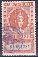 Regno D'Italia - 2000 Lire Marca Da Bollo - Usato° - 1861-78 Victor Emmanuel II.