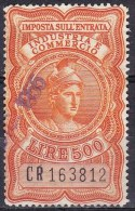 Regno D'Italia - 500 Lire Imposta Sull'entrata - Usato° - Steuermarken