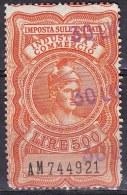 Regno D'Italia - 500 Lire Imposta Sull'entrata - Usato° - 1861-78 Victor Emmanuel II.
