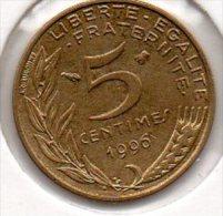 France - 5 Centimes 1996 - 3 Plis - SUP+ - (Marianne - Lagriffoul) - France