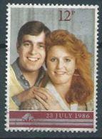 GB 1986 1986 Royal Wedding   12p.  SG 1333 SC 1154 MI 1081 YV 1236 - Used Stamps