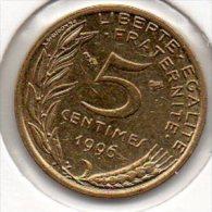 France - 5 Centimes 1996 - 4 Plis - SUP - (Marianne - Lagriffoul) - France