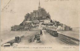 Le Mont-saint-michel,coté Sud,vue Prise De La Digue - Le Mont Saint Michel