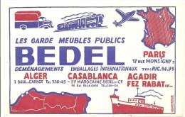 Buvard BEDEL Les Garde Meubles Publics Déménagement Emballages Internationaux Alger Casablanca Agadir Fez Rabat ... - Blotters