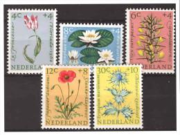 Nederland / Netherlands 1960 Flowers Tulip Lily Poppy Thistle MNH - Periodo 1949 – 1980 (Juliana)