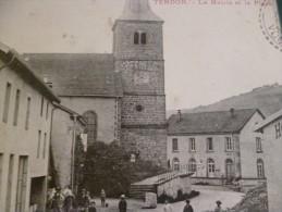 CPA  Vosges Tendon La Mairie Et La Place Hôtel Rare - Autres Communes