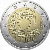 LETTONIA - 2 Euro 2015 - 30° Anniv. Bandiera Europea - UNC - Latvia