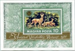 N° Yvert 87 - Bloc Feuillet De Hongrie (1971) - MNH - Exposition Mondiale De La Chasse (JS)