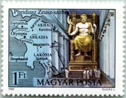 N° Yvert 2711 - Timbre De Hongrie (1980) - MNH - Statue De Zeus (Par Phidias) (JS)