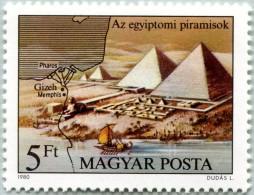 N° Yvert 2715 - Timbre De Hongrie (1980) - MNH - Pyramides D'Egypte (JS)