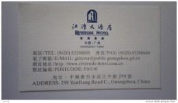 CHINE Carte  Hôtel. Riverside Hotel . GUANGZHOU Chine - Cartas De Hotels