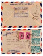 E) 1953 BOLIVIA, TO CENTRAL RESERVE BANK OF PERU, CIRCULATED COVER - Bolivia