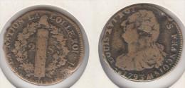 FRANCE   2 Sols 1793 AA - 1789 – 1795 Monedas Constitucionales