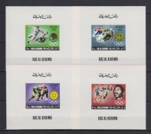 RAS AL KHAIMA  Olympics Grenoble 1968, Mexico 1968, Sapporo 1972  4 Deluxe Sheets Rare! - Sommer 1968: Mexico