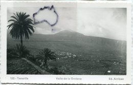 -120 - Ténérife - Valle De La Orotava - Non écrite, Splendide, Petit Format, édit. Arribas, Rare, Scans. - Tenerife