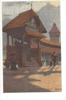 13289 - Luzern Kapellbrücke Gegen Den Pilatus Par Ernst Schlatter - LU Lucerne