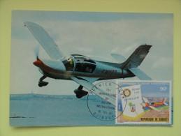 CARTE MAXIMUM CARD AVION RALLYE 235 SOCATA-AEROSPATIALE DJIBOUTI - Avions