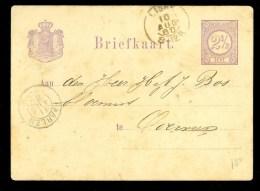 HANDGESCHREVEN BRIEFKAART Uit 1880 * Van LISSE Naar OVERVEEN  (10.009d) - Postal Stationery