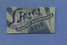 Une Lame De Rasoir LIESES  GOLD (L71) - Lames De Rasoir