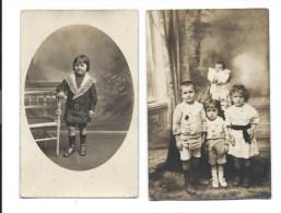 VENTE DIRECTE - ENFANTS Et PETITS ENFANTS -  2 CARTES PHOTO BLAYE - EYRANS Gironde - Babies