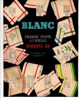 Catalogue Blanc, Vente Annuelle De La Redoute 1959. Linge De Maison, Blouses Et Tabliers, Chemises Et Sous Vêtements. - Fashion