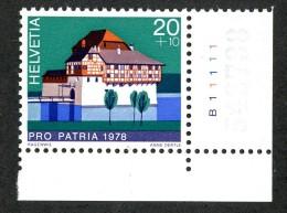 8107 - Swiss 1978   Michel #1130**  ( Cat. .75€ ) - Ungebraucht