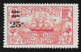 """NEW CALEDONIA - Scott #125 Ship """"Surcharged"""" / Mint H Stamp - New Caledonia"""