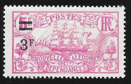 """NEW CALEDONIA - Scott #133 Ship """"Surcharged"""" / Mint H Stamp - New Caledonia"""