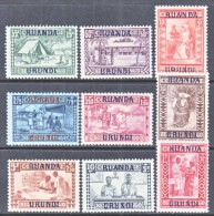 RUANDA-URUNDI  B 3-11  * - 1924-44: Mint/hinged