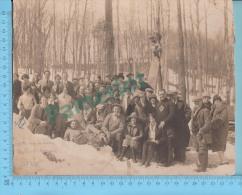 """Partie De Sucres ( Saint Scholastique Quebec """"Mirabel"""" Avril 1926 Grande Photo Original 24.5 X 19.5 Cm )4 Scans - Obj. 'Souvenir De'"""