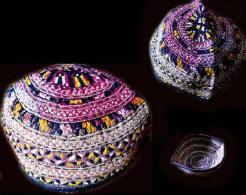 Ancienne  Coiffe Brodée TJUBETEIKA De Jeune Garçon Ouzbekh / Old Uzbek Headdress - Art Oriental