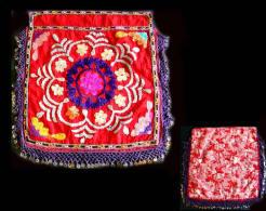 Ancien SUZANI Ouzbekh / Old Uzbek Suzani Textile Wall Ornament - Art Oriental