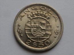 Angola      2,50 Escudos 1974   Colonie Portuguaise      KM # 77  Unc - Angola