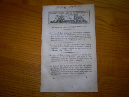Loi An VII  :Octroi Municipal à Poitiers Avec Tarif Des Droits. Assemblées Communales De L'Yonne - Decrees & Laws