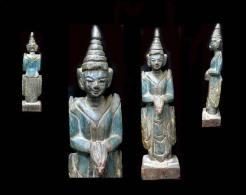 Ancien Nat D'autel Domestique: THAGYA MIN - Art Asiatique