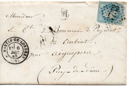 N° 29 Sur Lettre De ST MARTIN DE LONDRES Gros Chiffres 3753 - 1863-1870 Napoleon III With Laurels