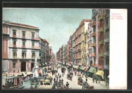 Cartolina Napoli, Via Roma Già Toledo - Napoli
