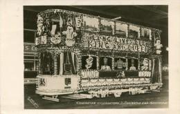 POST CARD SHEFFIELD CORONATION CELEBRATIONS ILLUMUNATED CAR  1911 - Sheffield