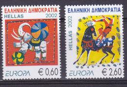 GRECE, 2002, EUROPA, Le Cirque, Neuf**, N°2094/2095 ( 1528/20) - Ungebraucht