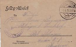 Feldpost WW1: Reserve Infanterie Regiment 69 P/m 9.4.1918 - Letter Inside  (G72-47) - Militaria