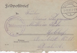 Feldpost WW1: Reserve Infanterie Regiment 69 P/m 3.11.1917 - Letter Inside  (G72-47) - Militaria