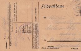 Feldpost WW1: Reserve Infanterie Regiment 69 P/m 15.10.1917 - Plain Postcard  (G72-47) - Militaria