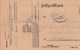 Feldpost WW1: Reserve Infanterie Regiment 69 P/m 23.9.1917 - Plain Postcard  (G72-47) - Militaria